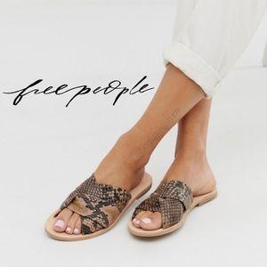 🆕 Free People Snake Print Rio Vista Slide Sandal